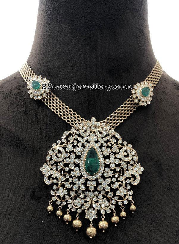 Diamond Pendant with White Gold