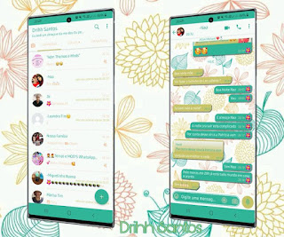 Flowers & Leaf Theme For YOWhatsApp & Fouad WhatsApp By Driih Santos