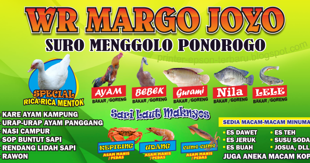Desain Banner Warung Makan Sederhana Vector cdr