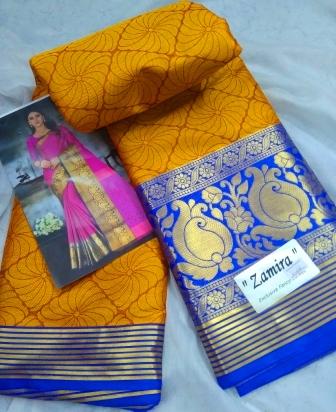 Cotton-silk border saree -31