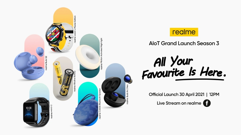 REALME WILL BE MAKING A SEASON 3 GRAND LAUNCH FOR ALL YOUR FAVOURITE AIOT DEVICES