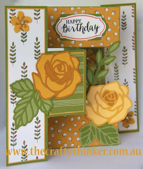 #SU, Tri-fold card, Tri Fold Shutter card, Tag Talk