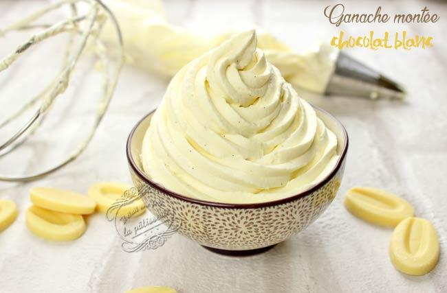 ganache mont 233 e chocolat blanc et vanille il 233 tait une fois la p 226 tisserie