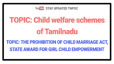 THE PROHIBITION OF CHILD MARRIAGE ACT, 2006 and STATE AWARD FOR GIRL CHILD EMPOWERMENT