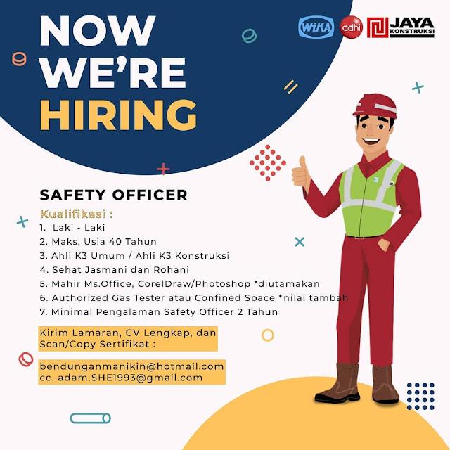 Loker Kupang Safety Officer di Wika Adhi Jaya Konstruksi