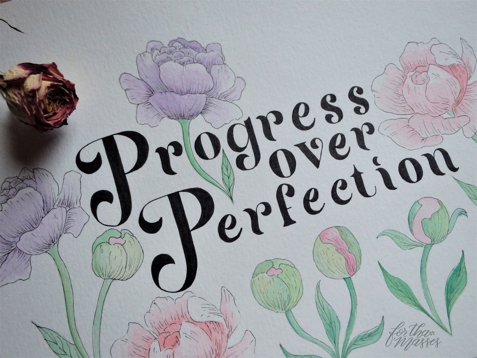 for tha masses progress over perfection print