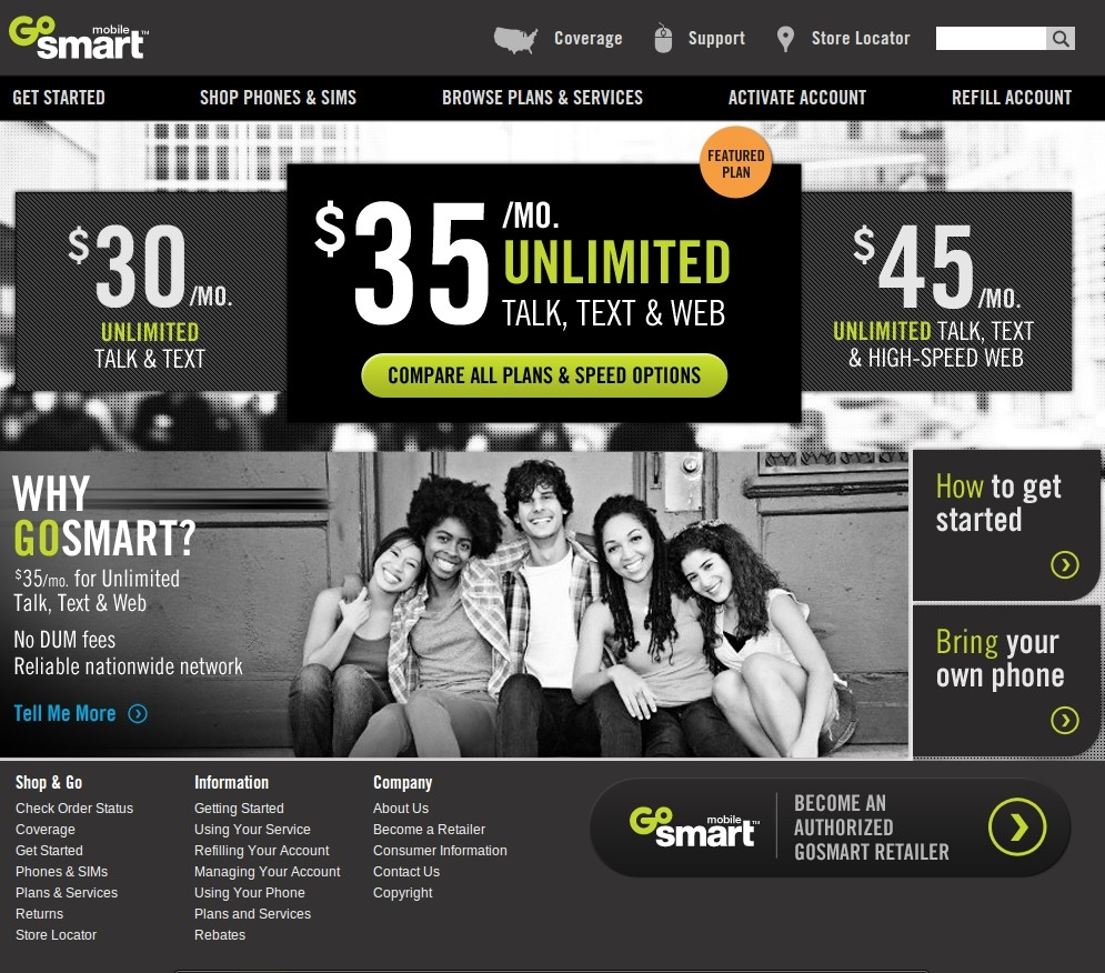 t mobile 39 s new gosmartmobile prepaid service now available. Black Bedroom Furniture Sets. Home Design Ideas