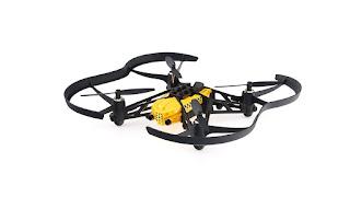 Minidrone Parrot Airbone Cargo Travis, color negro y amarillo parrot