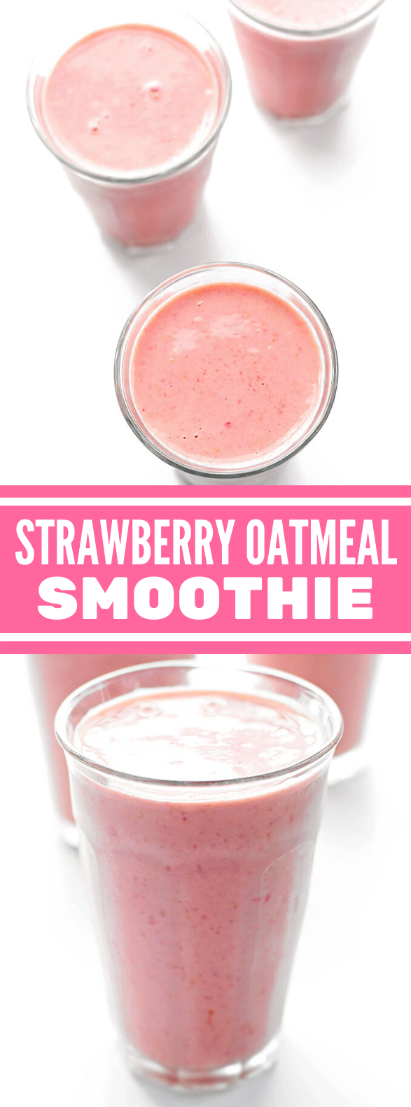 STRAWBERRY OATMEAL SMOOTHIE RECIPE #drinks #healthy