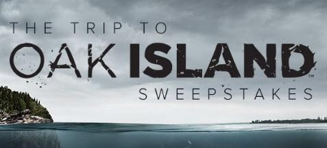 HISTORY CHANNEL OAK ISLAND SWEEPSTAKES