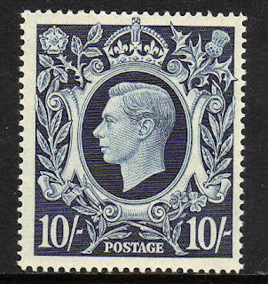 Great Britain 1939-48 10 Dark Blue