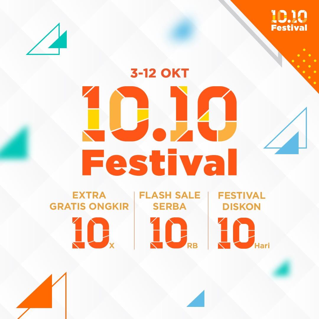 Shopee - Promo 10.10 Festival Promo Gratis Ongkir & Flash Sale (s.d 12 Okt 2018)