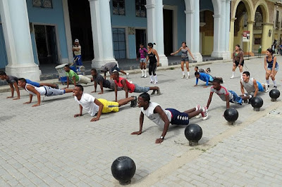 An exercise and physical activity session