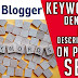 How to write SEO optimized blog post- Blogger keyword density