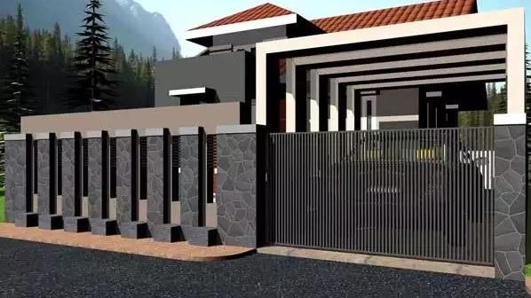 gambar gambar pagar minimalis dengan cat hitam