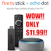 HURRY!! AMAZON GLITCH!! Fire Stick + Echo Dot Bundle Only $11.99 (Reg $55), Fire Stick 4K + Echo Dot Bundle Only