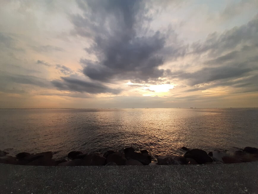 Samsung Galaxy A50 Camera Review - Sunset, Wide