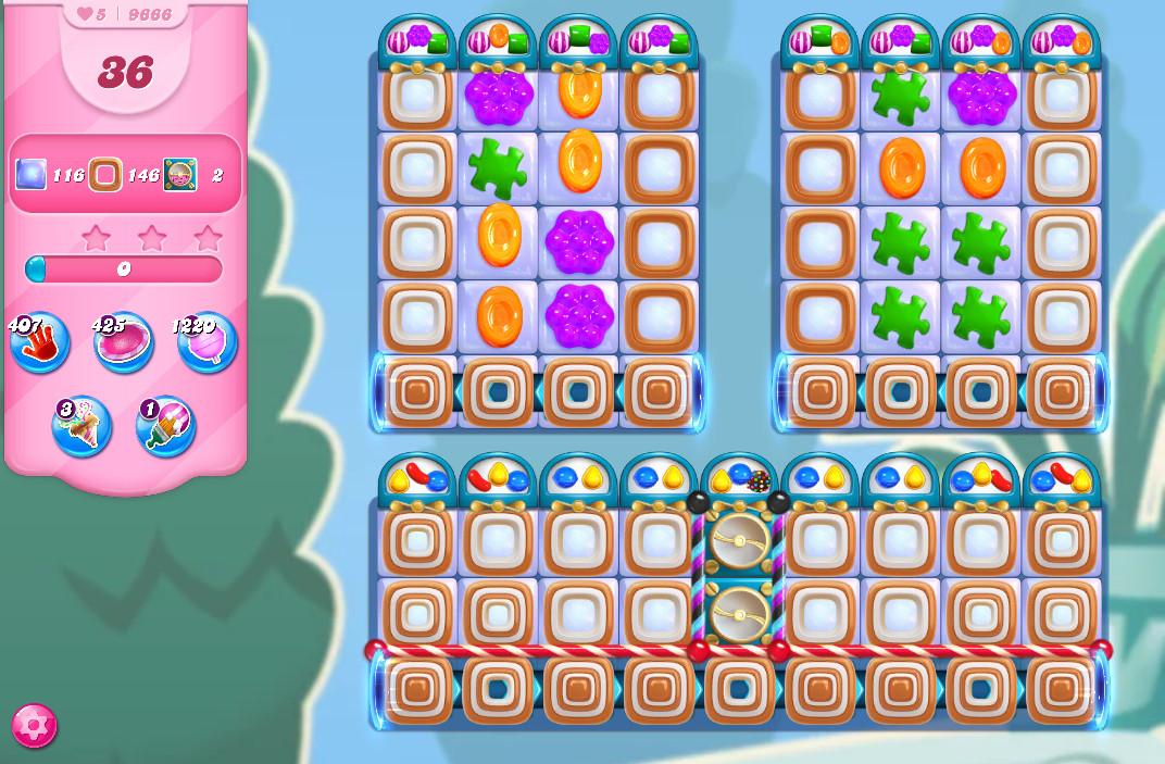 Candy Crush Saga level 9666