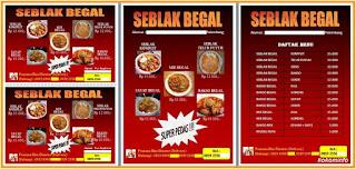 Brosur dan Daftar Menu Makanan