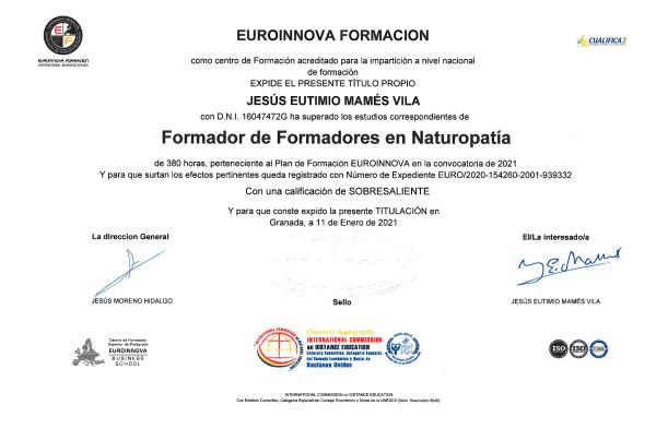 Título Formador de Formadores en Naturopatía