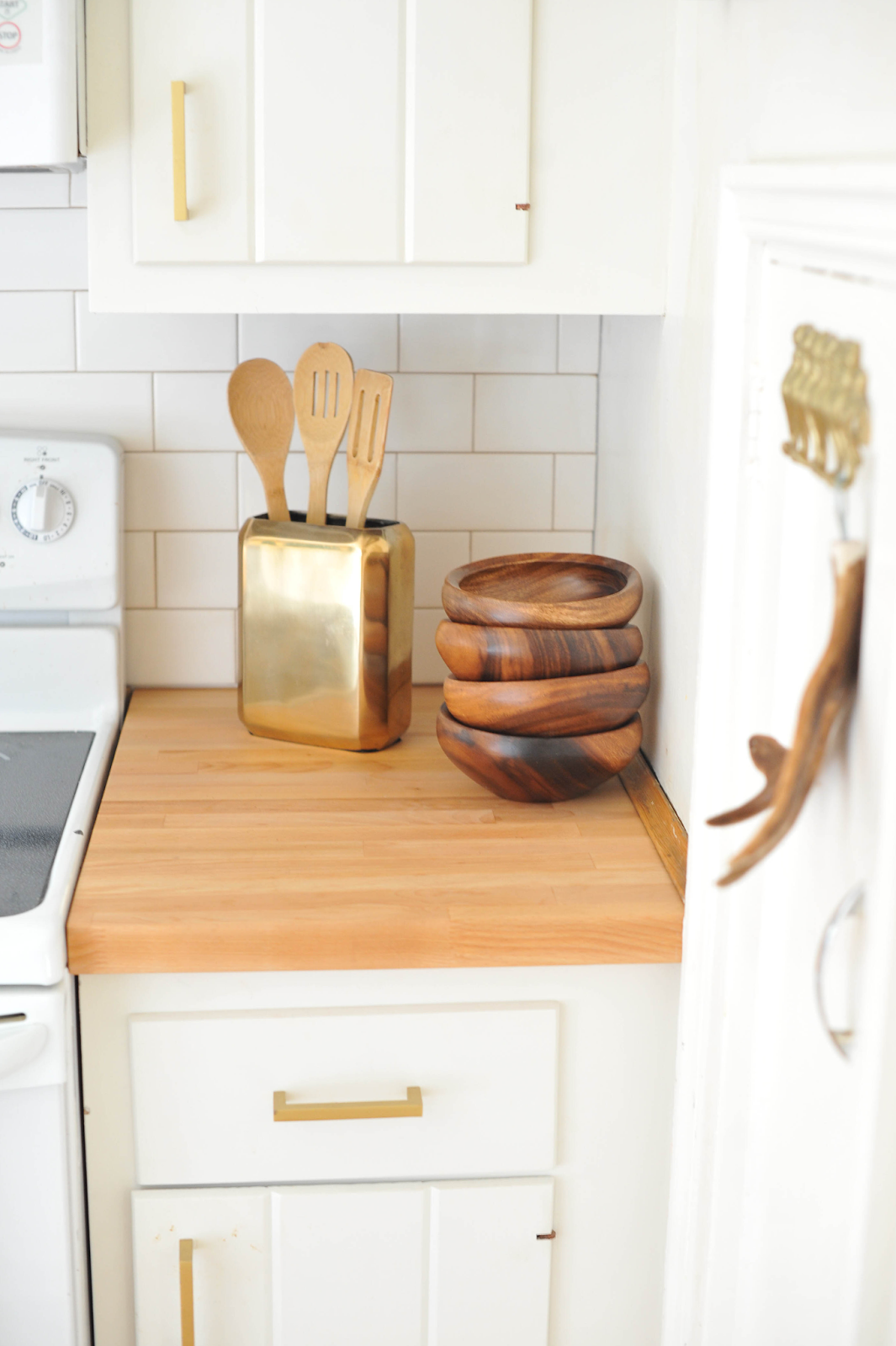 gold kitchen hardware wood countertops a new bloom diy and craft projects home interiors