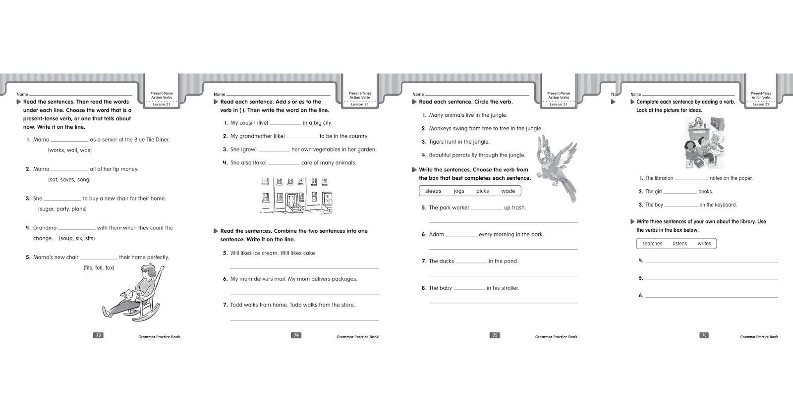 Grammar Worksheets Simple Present Tense