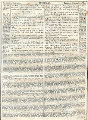 Page from Brown's Self-Interpreting Family Bible