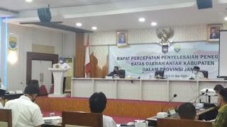 PJ Gubernur Buka Rapat Penyelesaian Batas Daerah di Empat Kabupaten Provinsi Jambi