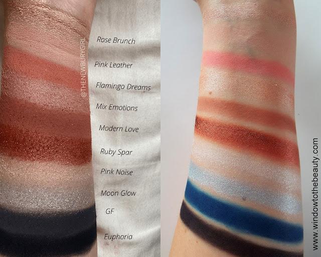 Melt Cosmetics Millennial Pinx Palette swatches