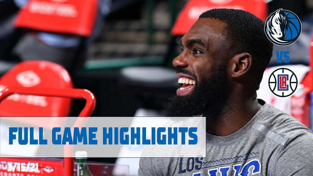 Tim Hardaway Jr. 21pts vs LAC   March 15, 2021   2020-21 NBA Season