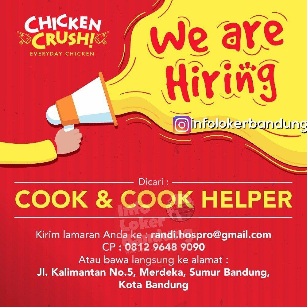 Lowongan Kerja Chicken Crush Bandung Maret 2019