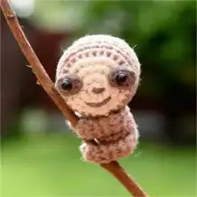 Mini Oso Perezoso a Crochet