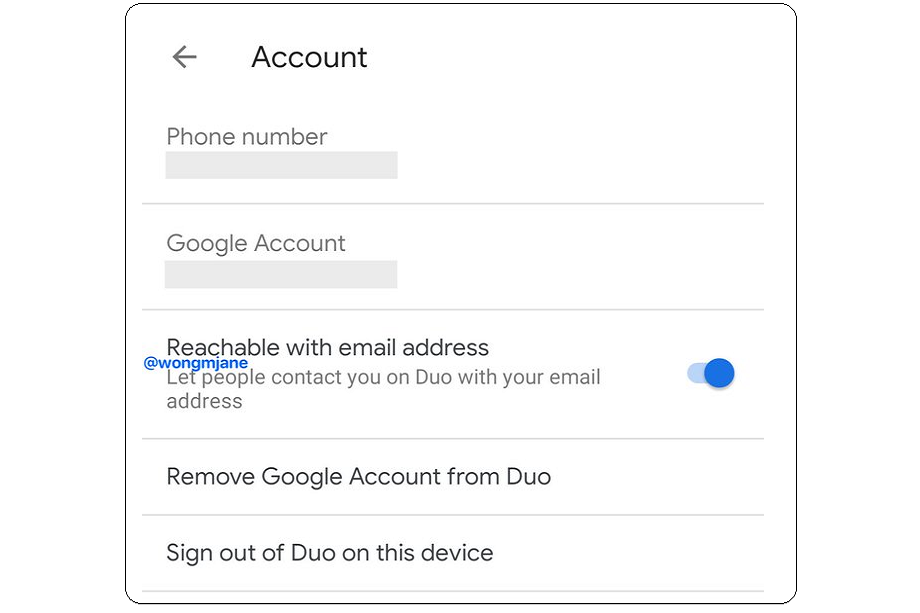 "Google Duo is Working on ""Reachable with email address"" Feature"