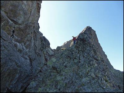 En la cresta del Pitón de la Fourche