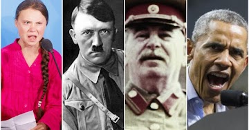A tirania-ambiental Greta Thunberg vence a TIME do Ano, juntando-se a Hitler, Stalin e Obama