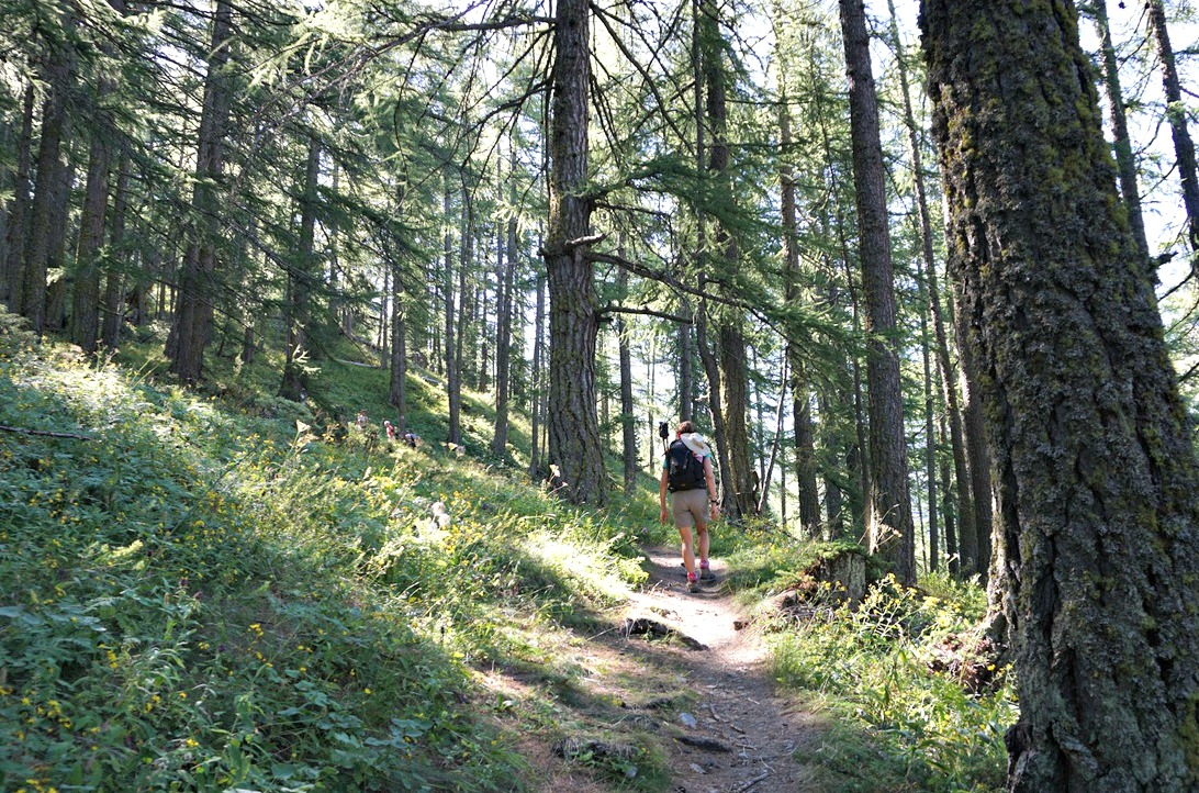 GRP trail to Col Lacroix