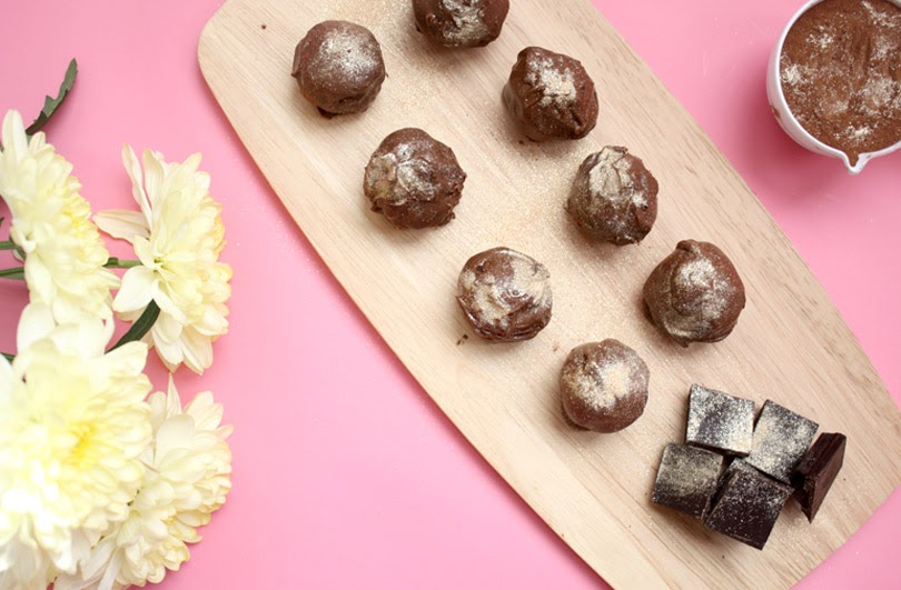 dairy-free dark chocolate rose water truffles