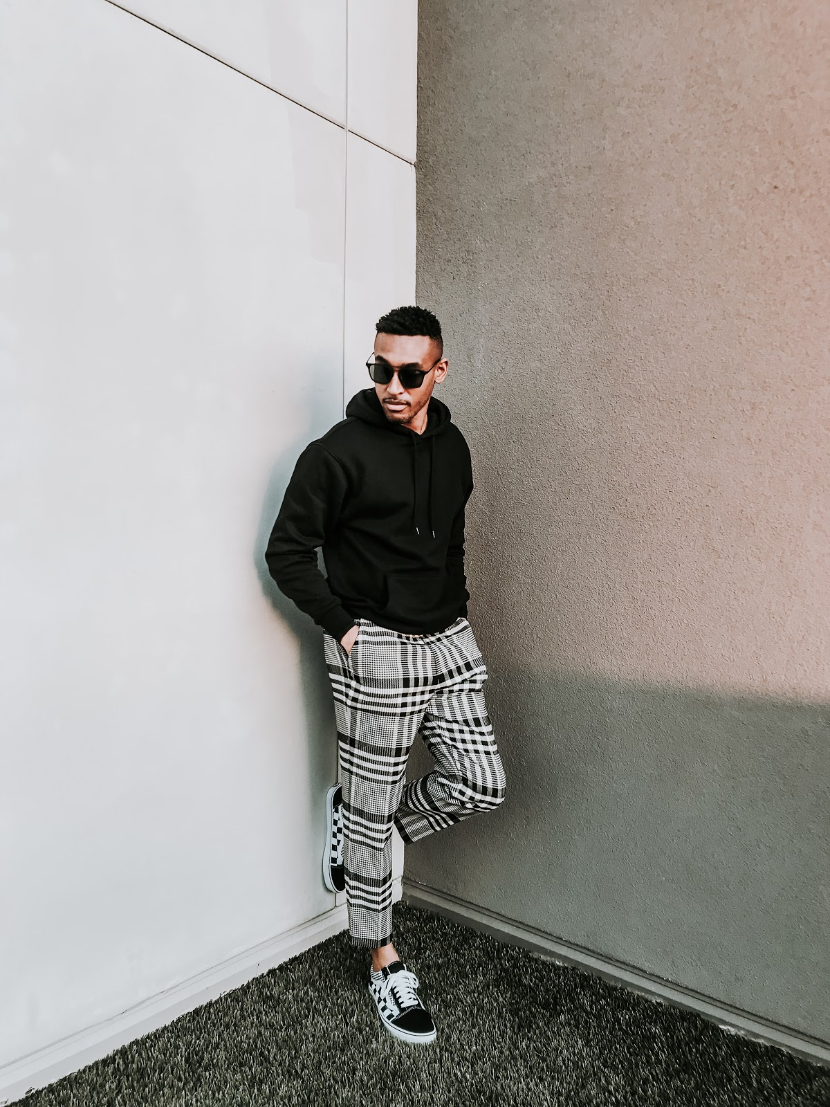 mens fashion, smart pants, asos men pants, men trousers, checked pants