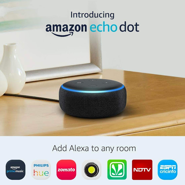 Echo Dot (Black) bundle with Wipro 9W smart white bulb Just In 2,995 Limited Deal...