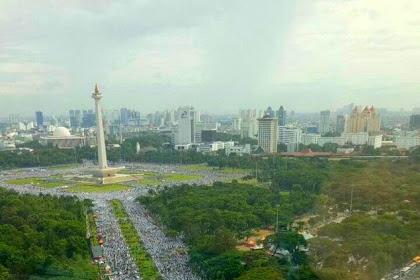 Luar Biasa! Peserta Aksi Damai 212 Diperkirakan Tembus 4.000.000 Orang