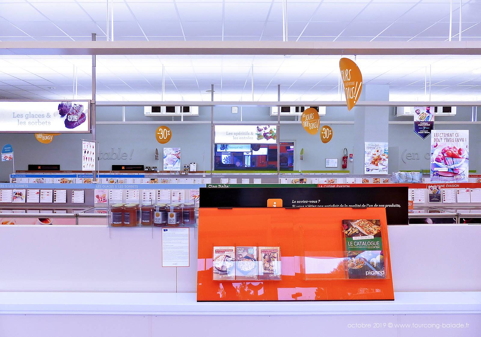 Intérieur boutique Picard Tourcoing