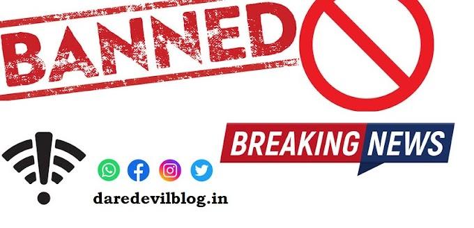 Social Networks ban in India viral news