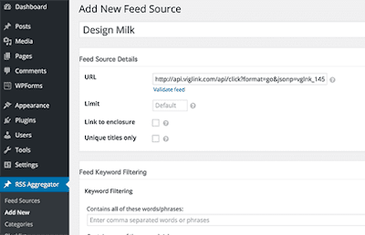 Add New to add a new feed source.