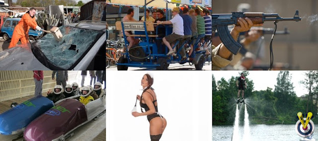 a collage of activities available abroad