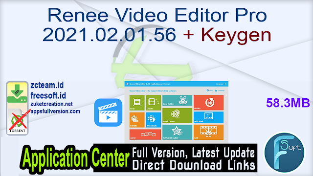 Renee Video Editor Pro 2021.02.01.56 + Keygen_ ZcTeam