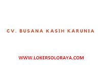 Loker Sukoharjo Bulan Agustus 2021 di CV Busana Kasih Karunia