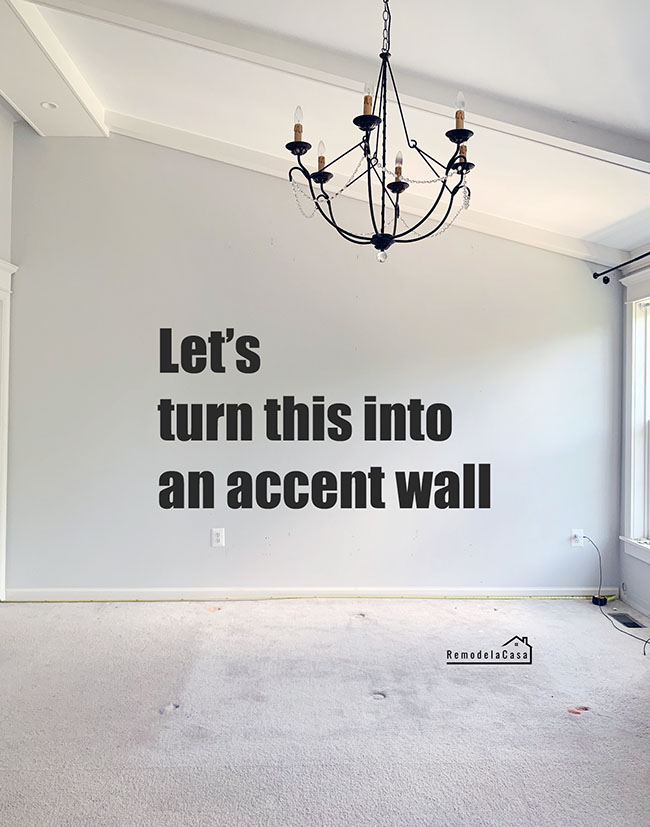 how to create and accent wall on a slanted wall