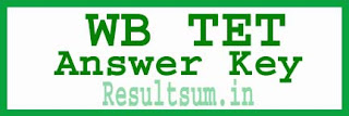 WB TET Answer Key 2015