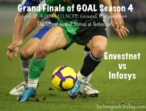 Goal football tournament technopark trivandrum