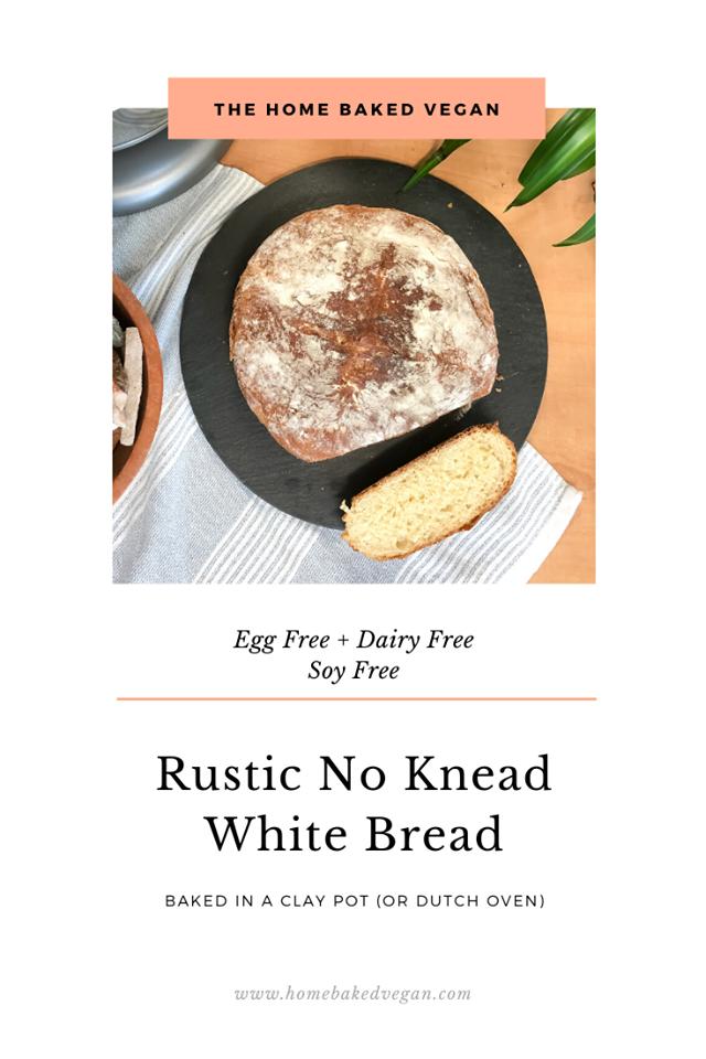 Rustic No Knead White Bread Recipe